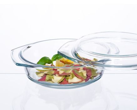 Casserole dish round with lid - 0.7l 002