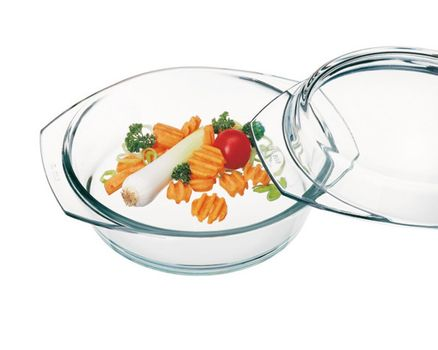 Casserole dish round with lid - 0.7l