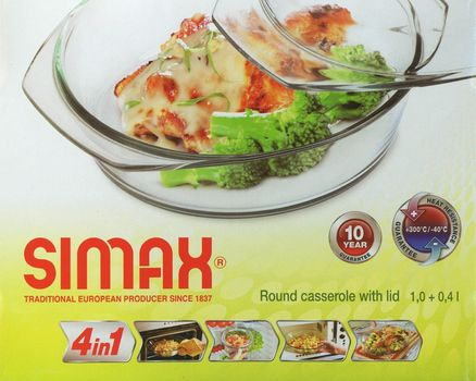Casserole dish round with lid - 1.0l 004
