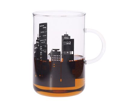 "Mug OFFICE XL ""CITY"" black, 0.6l"