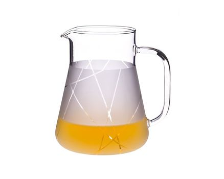 Jug 1.0l - satined, with stripes
