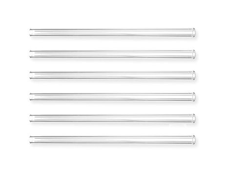Glass drinking straw, Ø8 x 200mm (6 pieces)