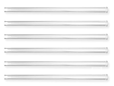 Glass drinking straw, Ø10 x 250mm (6 pieces)
