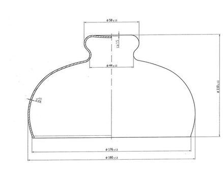 Käseglocke mit Holzteller, Ø 21cm 005