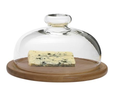 Cheese Dome with wooden board, Ø 21cm 002