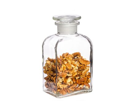 Apothecary bottle 0.5l - square, clear