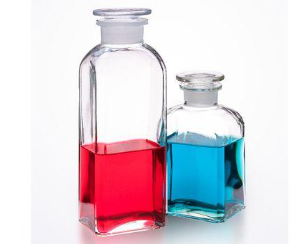 Apothekerflasche 0.8l - eckig, klar 002