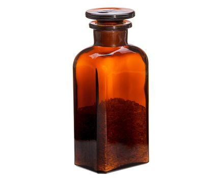 2 pieces Apothecary bottle 0.25l - sqare, brown 002