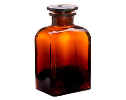 Apothecary bottle 0.5l - square, brown 002