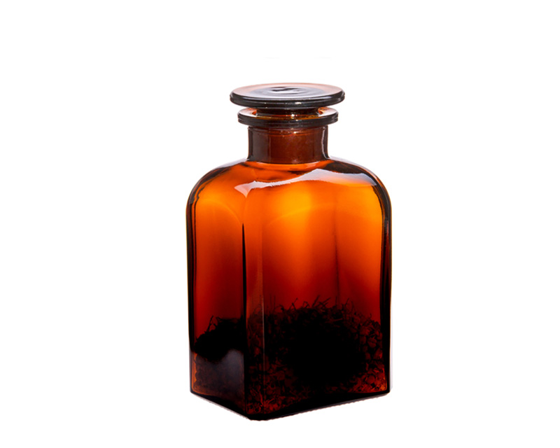 Apothecary bottle 0.5l - square, brown