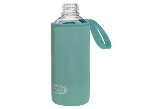 Carrying protection sleeve for drinking bottle 1000 - blue