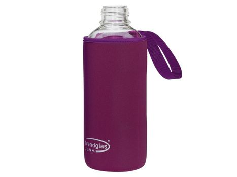 Carrying protection sleeve for drinking bottle 1000 - purple