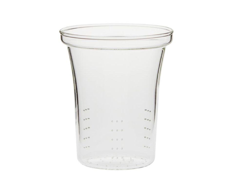 Premium glass strainer, laser perforated