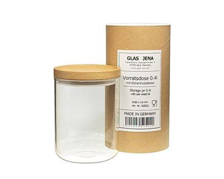 Small storage jar 0.4l - oak 001