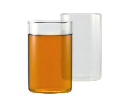Tea glass 0.25l without handle - cylindrical (6 pieces) 003