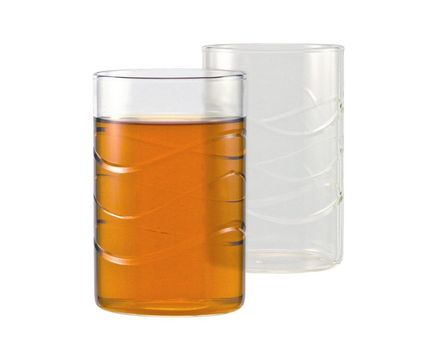 "Tea glass ""WAVE"" 0.25l without handle - cylindrical  (6 pieces) 003"
