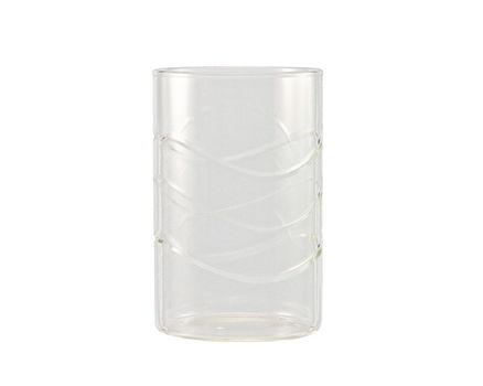 "Tea glass ""WAVE"" 0.25l without handle - cylindrical  (6 pieces) 002"