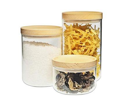 Small storage jar 0.4l - beech 004