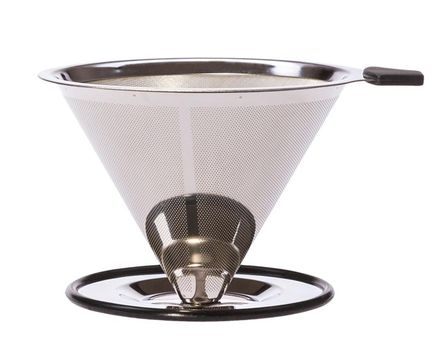 Pour over stainless steel permanent filter